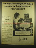 1964 Champion Spark Plugs Ad - Save Enough Gas