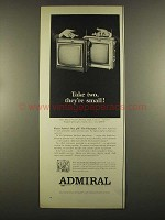 1964 Admiral Playmate Portable Television Ad - Take Two