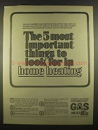 1964 American Gas Association Ad - Home Heating