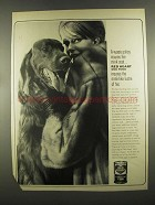 1964 Red Heart Dog Food Ad - Insures Mink Coat