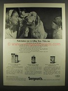 1964 Sergeant's Ad - Flea and Tick Spray, Derma-Foam