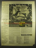 1964 McCulloch Chain Saw Ad - Holiday Bonus