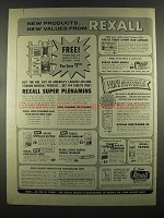 1964 Rexall Drug Store Ad - New Products New Values