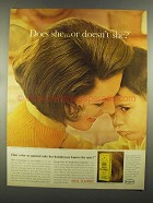 1964 Miss Clairol Ad - Does She or Doesn't She?