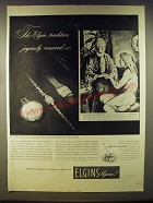 1946 Elgins Watches Advertisement - art by Ben Stahl - The Elgin tradition