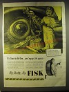 1946 Fisk Tires Advertisement - art by Harold Anderson - It's time to re-tire
