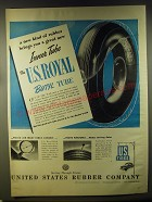 1946 U.S. Royal Butyl Tire Tube Ad - A new kind of rubber