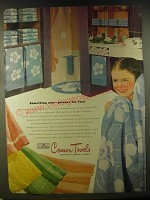 1946 Cannon Towels Ad - Something new - privacy for two