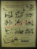 1946 Windex Cleaner Ad - Bluebirds whistle while they preen come do likewise