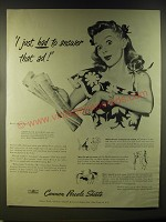 1946 Cannon Percale Sheets Ad - I just had to answer that ad