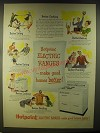 1946 Hotpoint Electric Ranges Ad - Hotpoint Electric Ranges ..make good homes