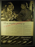 1946 International Sterling Advertisement - Courtship, Minuet, Serenity