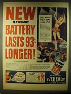 1946 Eveready Batteries Advertisement - Circus-themed art