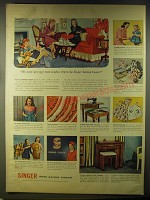 1946 Singer Sewing Centers Ad - My mom says your mom needs a trip