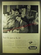 1946 Rexall Puretest Plenamins Ad - Frank falls apart on the 5:15