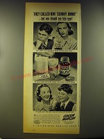 1946 Cocoa Marsh Ad - They called him Skinny Jimmy but you should see him now