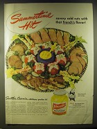 1946 French's Mustard Ad - Summertime Hit Savory cold cuts with that French's