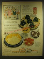 1946 Jell-O Advertisement - recipe for Minted Honeydew Salad