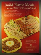 1946 American Meat Institute Ad - Build flavor meals around these ready-cooked