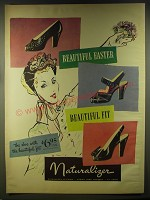 1946 Naturalizer Shoes Ad - Beautiful Easter Beautiful Fit