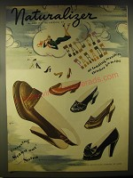 1946 Naturalizer Shoes Advertisement - art by Bolin - Fall Fit Parade