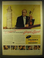 1946 Columbia Records Advertisement - Joseph Szigeti - A musical event!