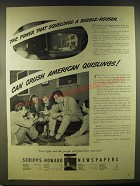 1946 Scripps-Howard Newspapers Ad - The power that squelched a rabble-rouser