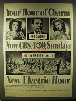 1946 CBS Hour of Charm Advertisement - Phil Spitalny, Evelyn Kaye