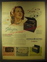 1946 General Electric Advertisement -  303 Radio-Phonograph, 110, 111 Radio