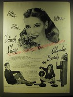 1946 Columbia Records Advertisement - Ultra.. Ultra.. Ultra.. Dinah Shore