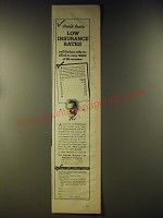 1946 Lincoln National Life Insurance Advertisement - Check these low rates