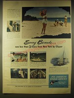 1946 Pan American World Airways Ad - Sunny bermuda.. Now less than 3 hours