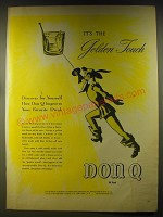 1946 Don Q Rum Ad - It's the golden touch
