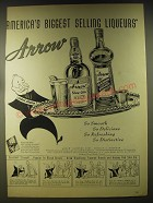 1946 Arrow Sloe Gin and Blackberry Flavored Brandy Advertisement