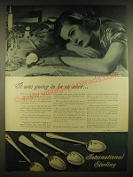 1945 International Sterling Advertisement - Spring Glory, 1810, Prelude
