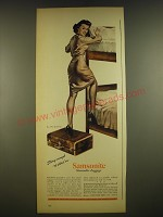 1945 Samsonite Luggage Ad - Strong enough to stand on