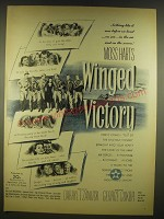 1945 Winged Victory Movie Ad - nothing like it ever before on land ..on sea