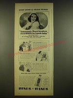 1945 Hinds Lotion Ad - Handy Advice by Arlene Francis