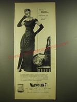 1945 Valvoline Motor Oil Ad - Her Gown custom-fashioned by Bergdorf-Goodman