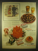 1945 Jell-O Gelatin and Pudding Ad - she snatched it - the very last box