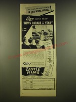 1945 Castle Films Ad - This year's greatest events in one home movie Own Castle