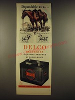 1945 Delco Batteries Ad - Dependable as a..