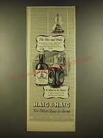 1945 Haig & Haig Scotch Advertisement - The One and Only