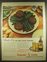 1945 Seagram's 5 Crown Whiskey Ad - Number One on the taste parade
