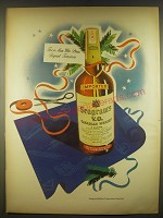 1945 Seagram's V.O. Canadian Whisky Ad - For a man who plans beyond tomorrow