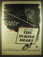 1944 The Purple Heart Movie Ad - Now! The story you could only guess