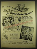 1944 Walt Disney's The Three Caballeros Movie Ad - Coming in February