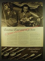 1944 International Sterling Advertisement - courtship, minuet, serenity
