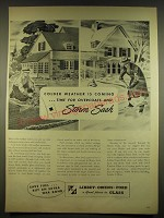 1944 Libbey-Owens-Ford Glass Ad - Colder weather is coming ..time for overcoats