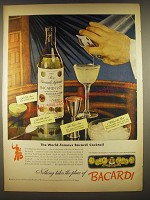 1944 Bacardi Rum Ad - The world-famous Bacardi Cocktail